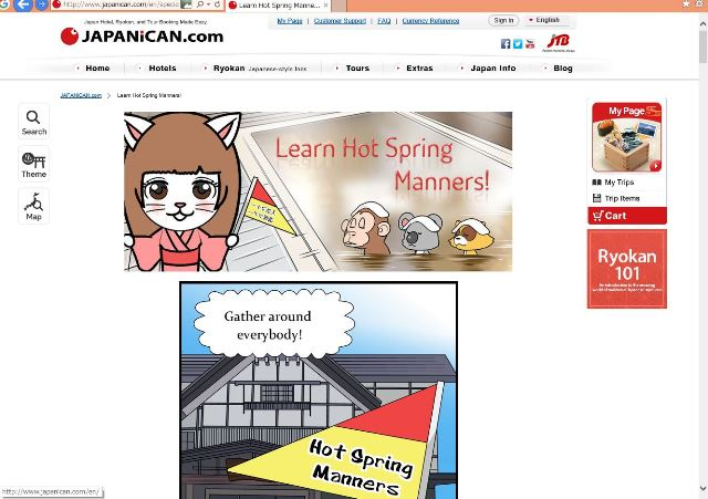 JTB's JAPANiCAN.com teaches hot spring manners in ryokan with MANGA for foreign travelers