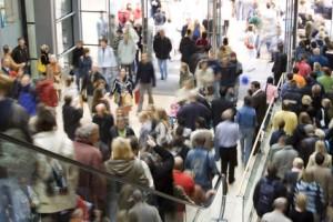 shopping center crowd