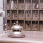 Key's box and reception bell