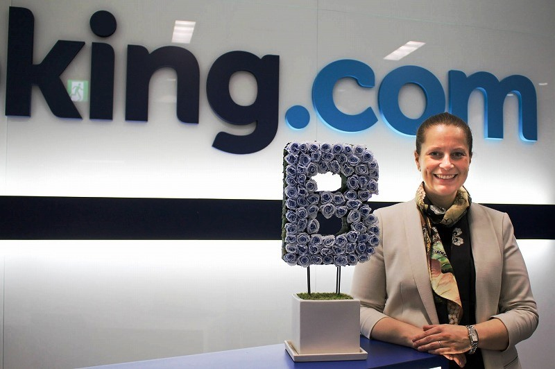 What is Booking.com's strategy to increase lodging partners in Japan?
