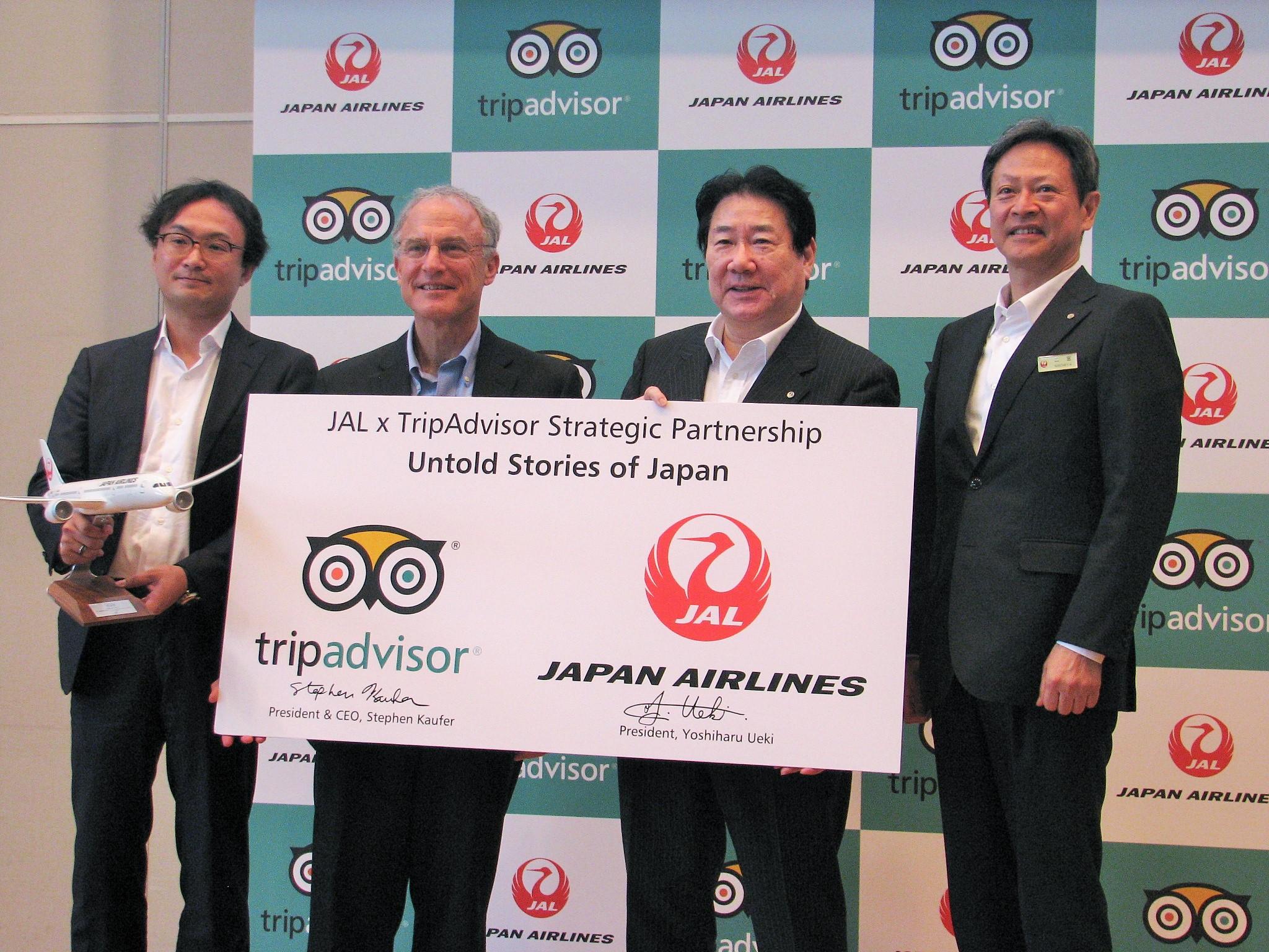 "JAL and TripAdvisor work together for inbound tourism promotions, offering ""Untold Stories of Japan"""