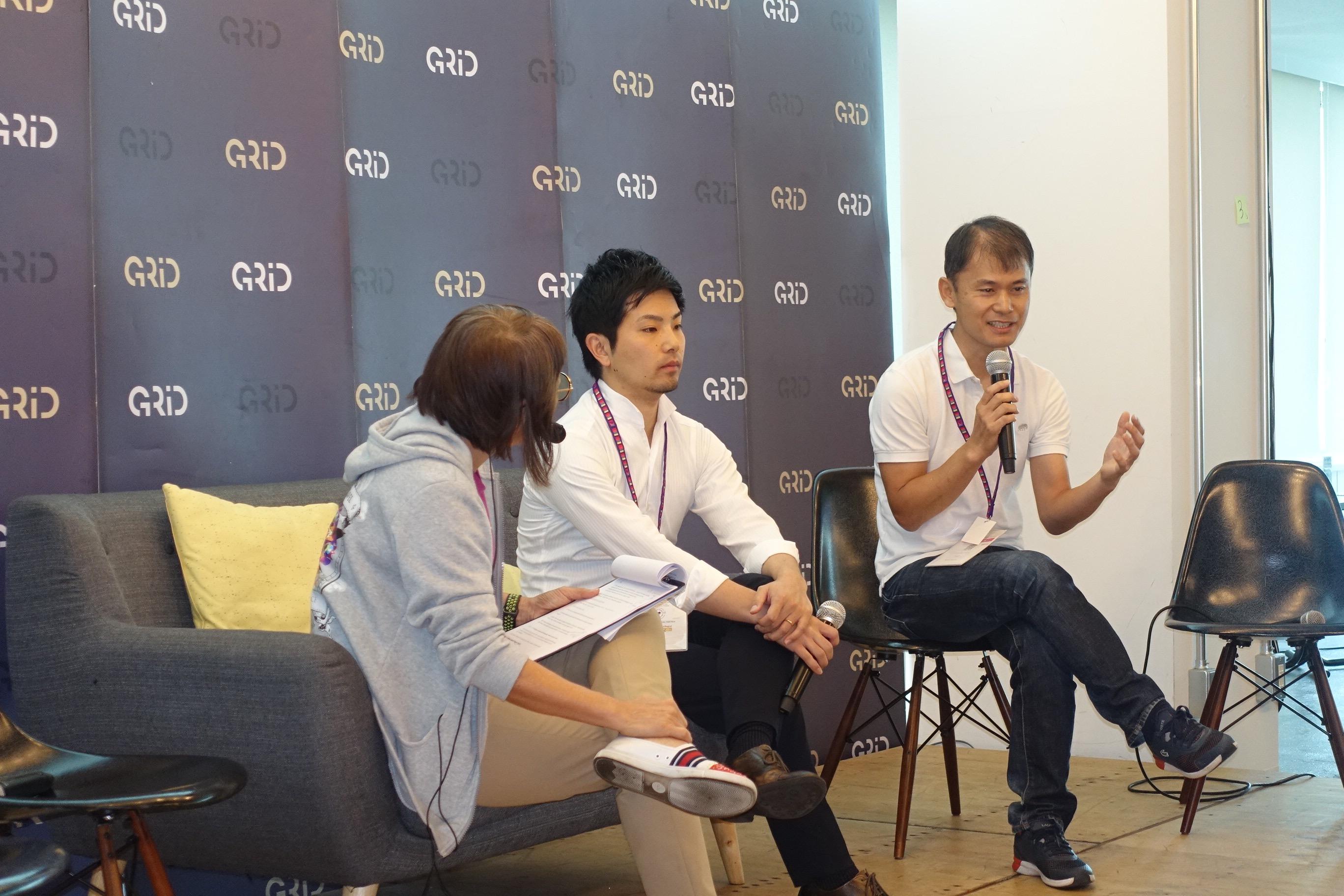 (from left) WIT Founder Siew Hoon Yeoh, SQUEEZE Tatebayashi、Venture Republic Shibata