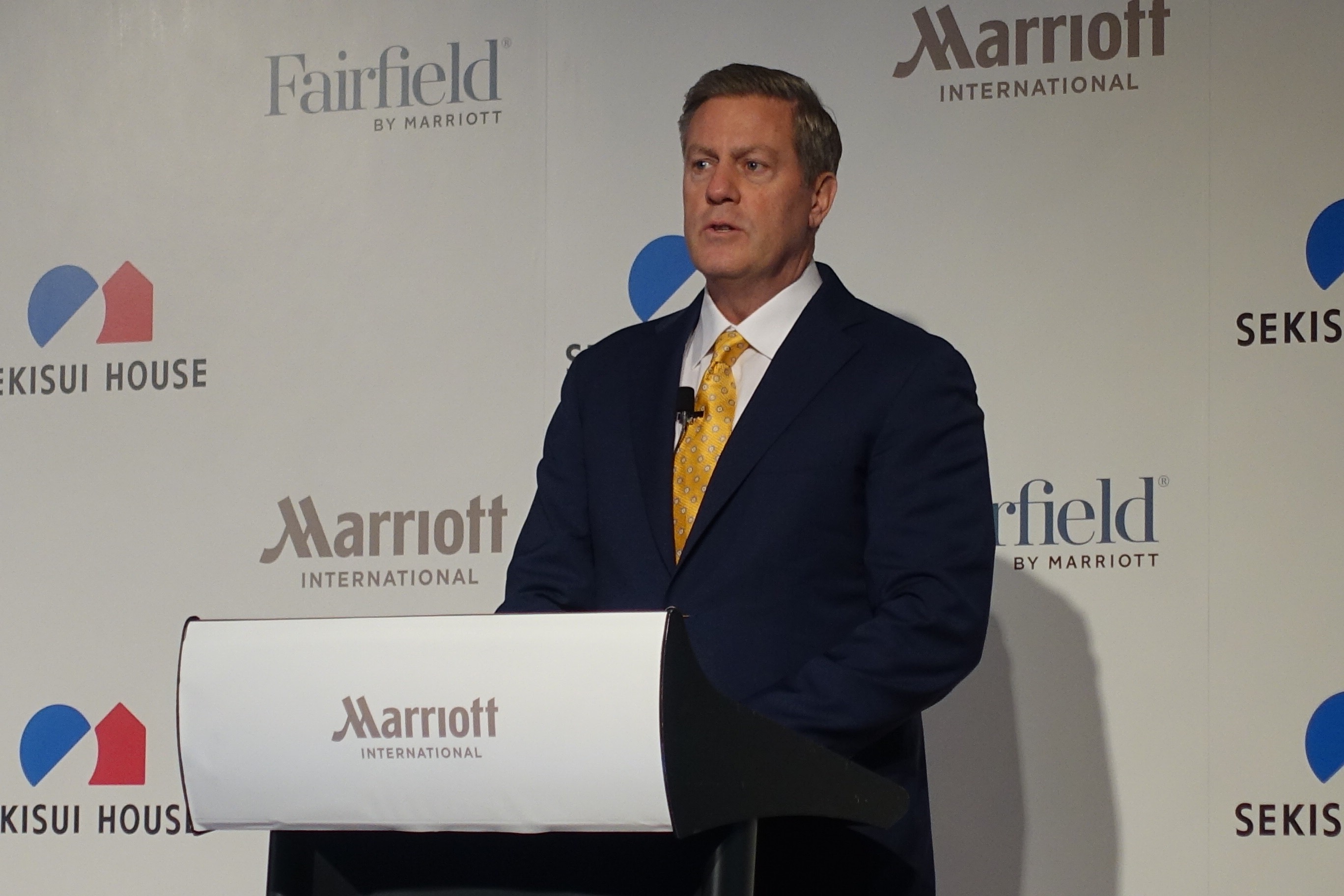 Craig Smith, Marriott International APAC President expects the project