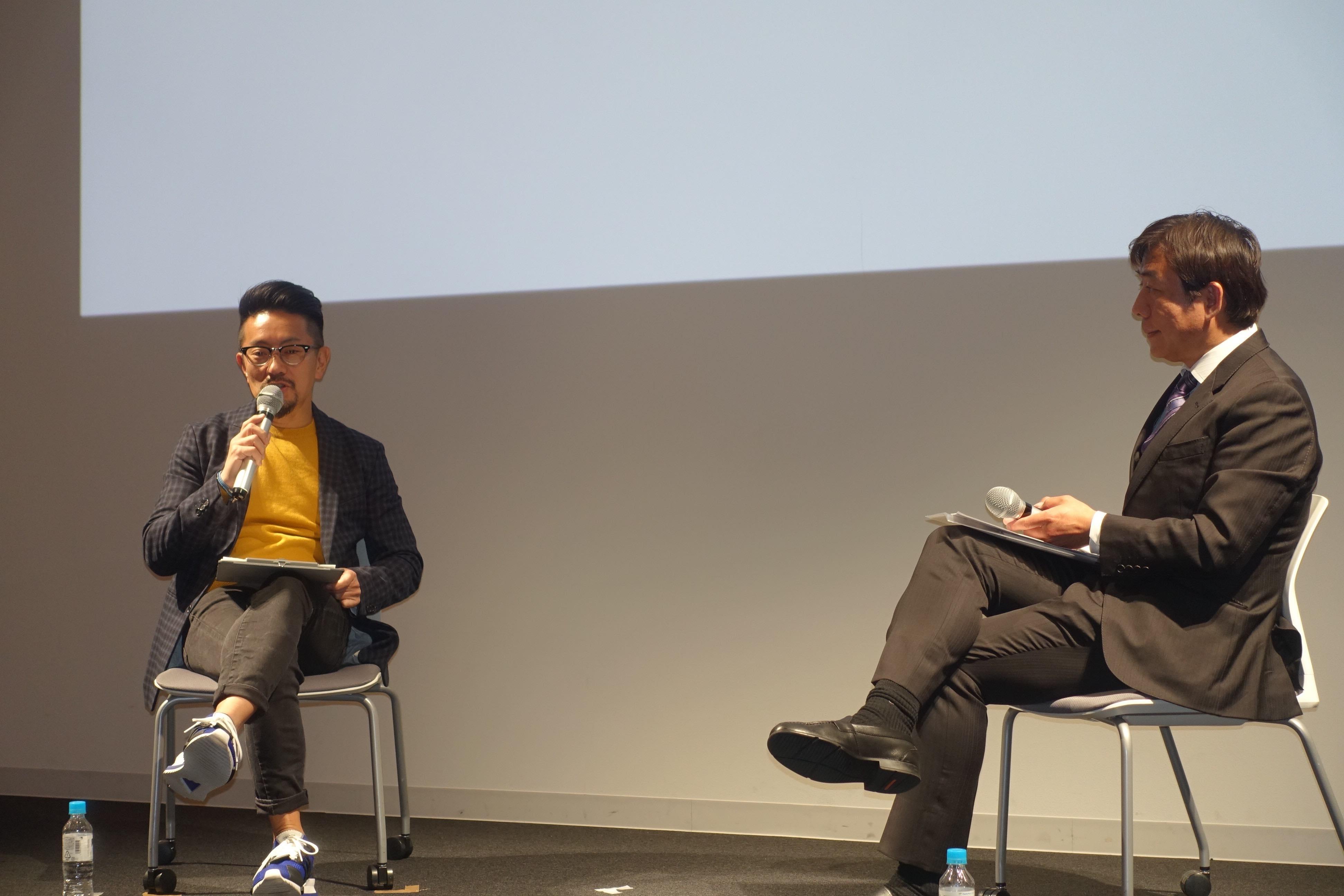Shibata (left), Tsurumoto (right)