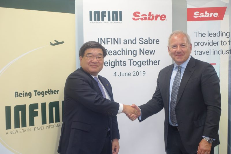ANA-affiliated GDS INFINI is appointed as an official distributor of Sabre's global solutions in Japan