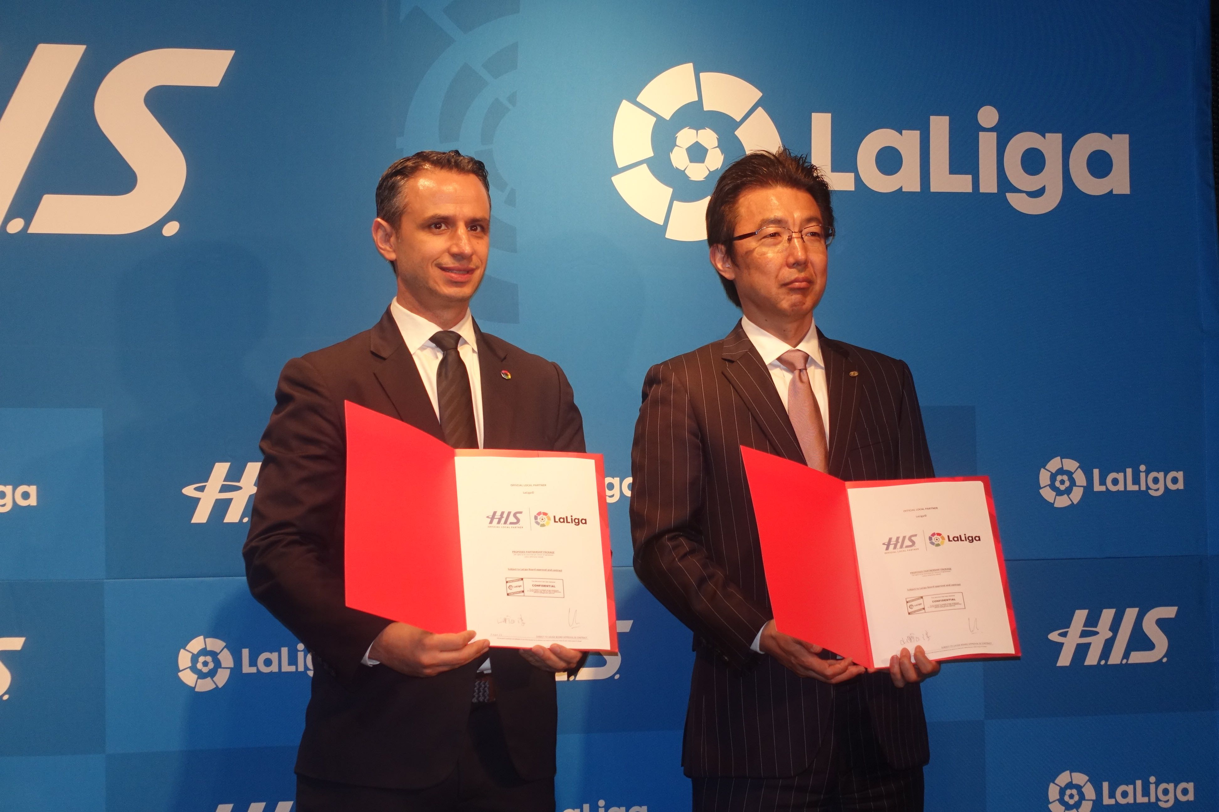 H.I.S. becomes the Japan's first official partner of Spanish professional football LaLiga, selling VIP seat package