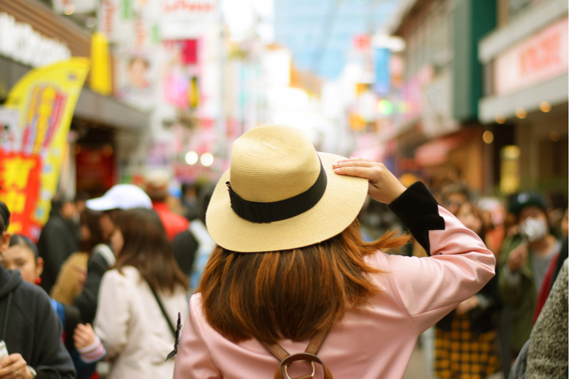 International visitors to Japan reduced for four consecutive months with a 1.1% decrease in January 2020