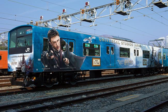 ユニバーサル・スタジオ・ジャパン、JR西とハリー・ポッター列車-オープン前に