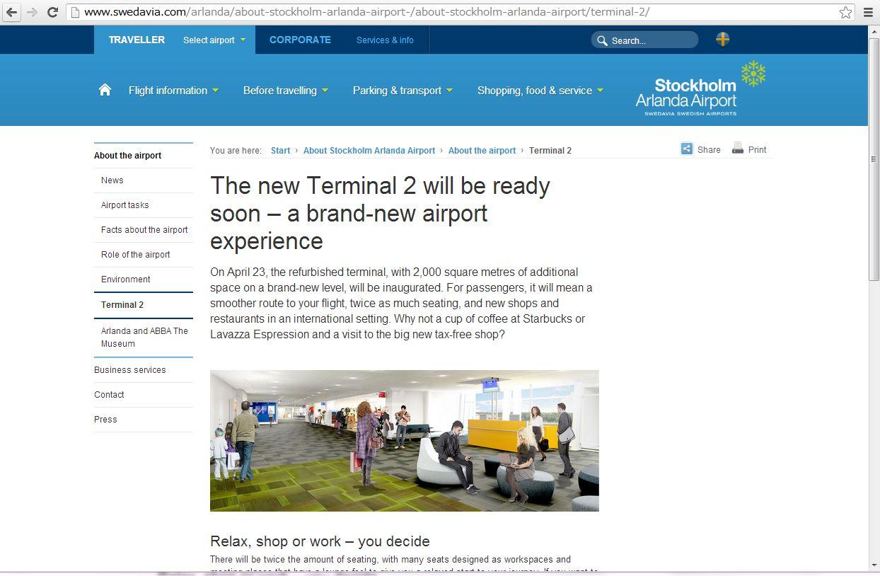 フィンエアー、ストックホルム空港のターミナルを変更