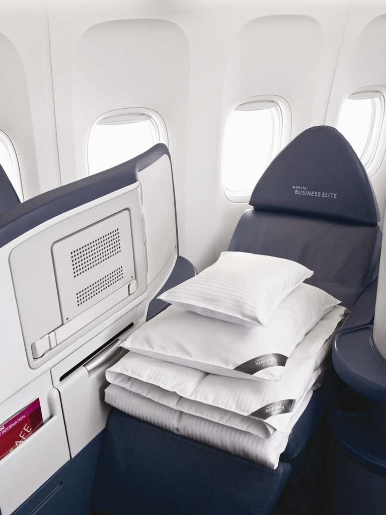 デルタ航空、ウェスティンのヘブンリーベッド製品を導入