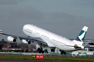 キャセイパシフィック航空、2013年6月、7月の燃油特別付加運賃を据え置き