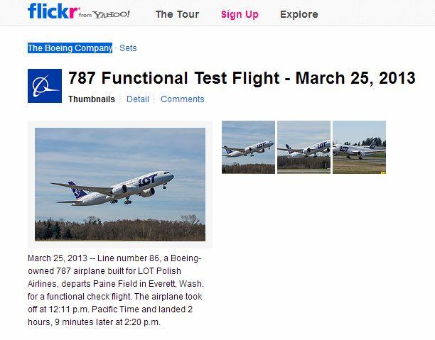 ボーイング、787型機の機能チェックフライトを実施