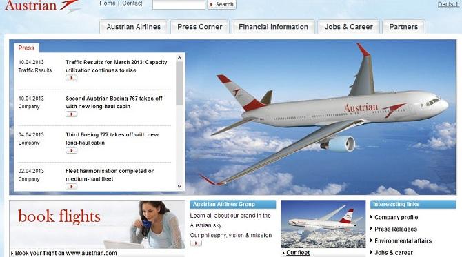 オーストリア航空、ANA/全日空とジョイントベンチャーを開始