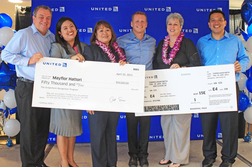 ユナイテッド航空、優良サービス表彰プログラムでスタッフに報奨金