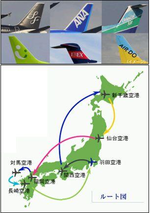ANAセールス、航空ファンを対象に国内線 6 社乗り比べ日本 1 周旅行を企画