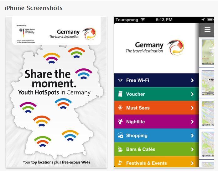 ドイツ観光局、若者向けアプリを無料提供 -無料Wi-Fiスポットや観光情報など