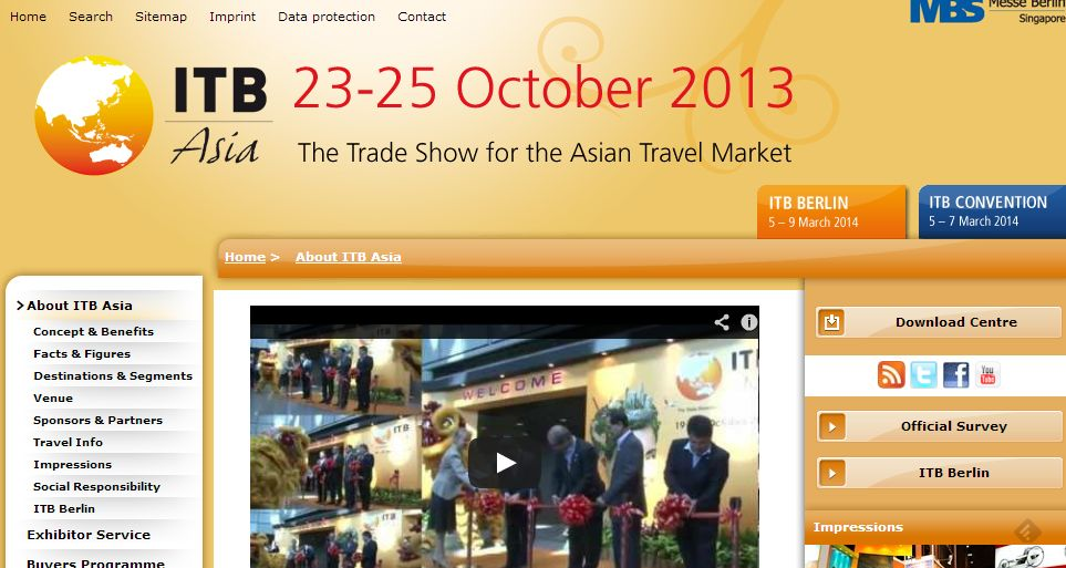 ITB Asia、2013年は10月23日~25日に開催
