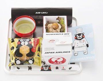 JAL、機内食で「くまモン」とコラボ -国際線欧米路線の機内食で