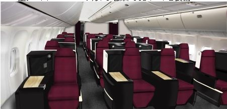 日本航空、B767のシートを一新、ビジネスクラスのフラット化推進