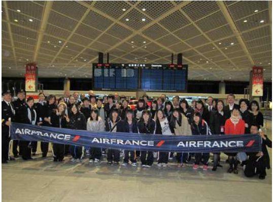 エールフランス航空、東日本大震災の遺児、フランス研修旅行を支援