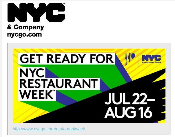 ニューヨーク市観光局、NYCレストランウィークを開催