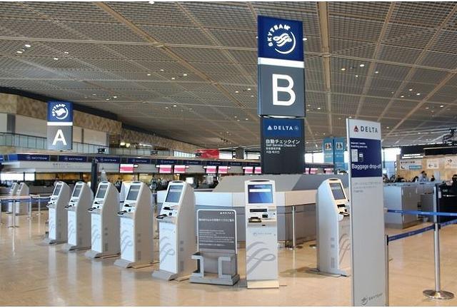 デルタ航空、成田のセルフ・チェックイン機増設で平均時間を40%削減