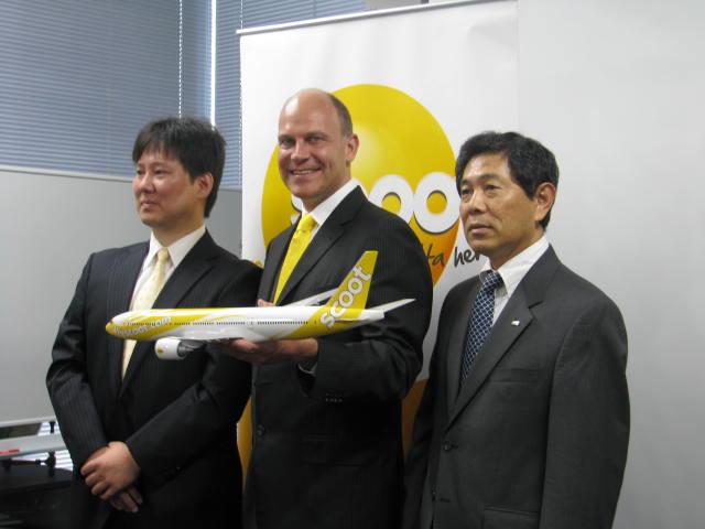 スクート、旅行会社経由の予約が8割、2014年はB787日本路線投入