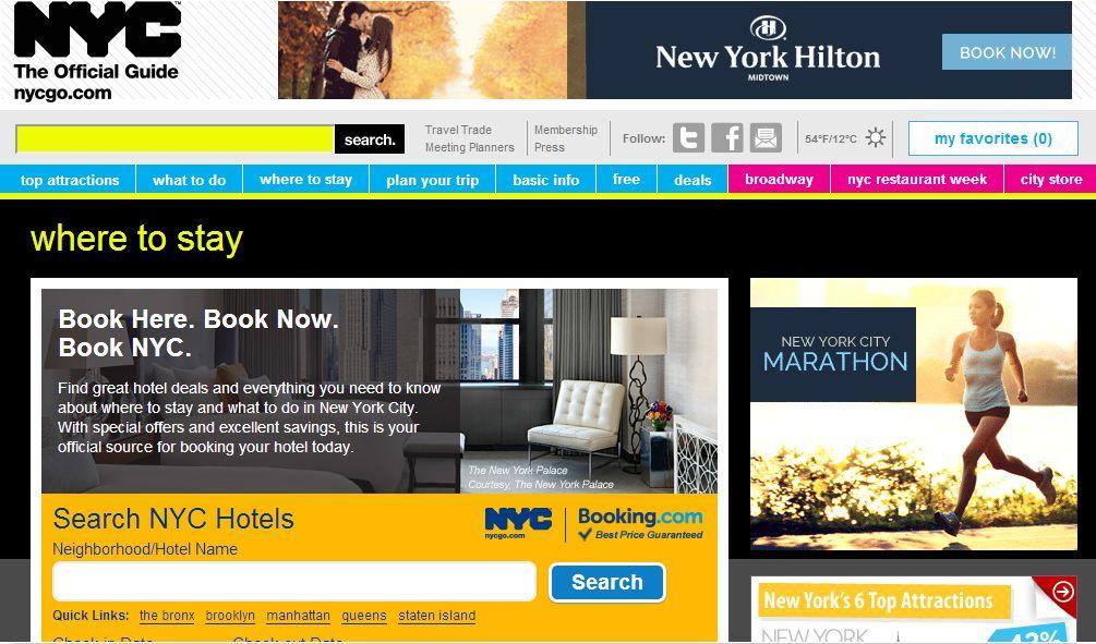ニューヨーク市観光局、ブッキング・ドットコムと連携でホテル予約サービスを開始