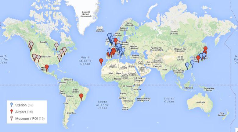 Googleマップ、世界の空港と駅のパノラマ写真を公開、羽田空港など