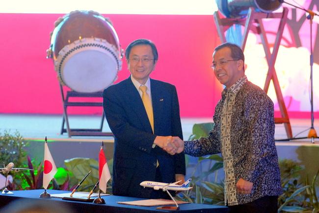 ガルーダ・インドネシア航空、ANAとの包括提携で覚書