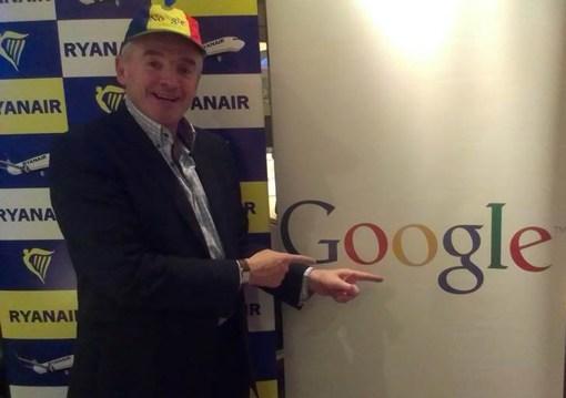 グーグル・フライト・サーチの検索に、有力LCCライアンエアーが参画