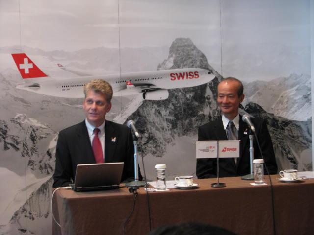 スイス インターナショナル、日本路線に新機材投入、増便も視野に -ホーマイスターCEO