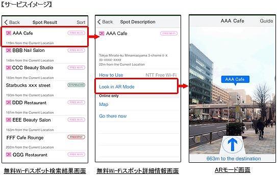 ナビタイム、訪日客向けアプリに無料Wi-Fiスポット検索機能、AR表示も