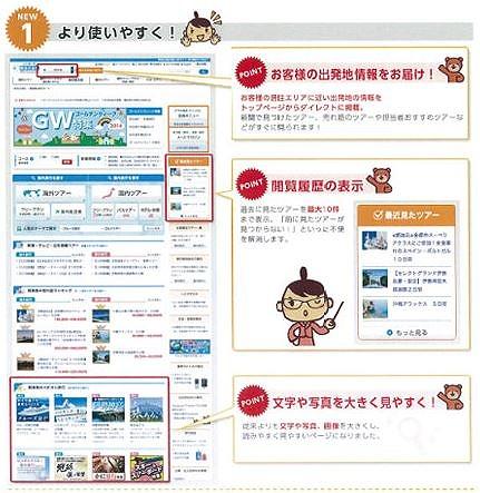 阪急交通社、3年ぶりにホームページを全面刷新、ネット販売を強化