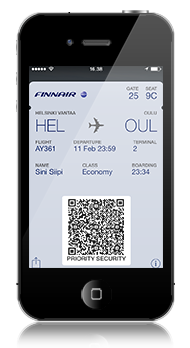 フィンエアー、モバイル搭乗券の利便性を向上、iPhoneで利用可能に