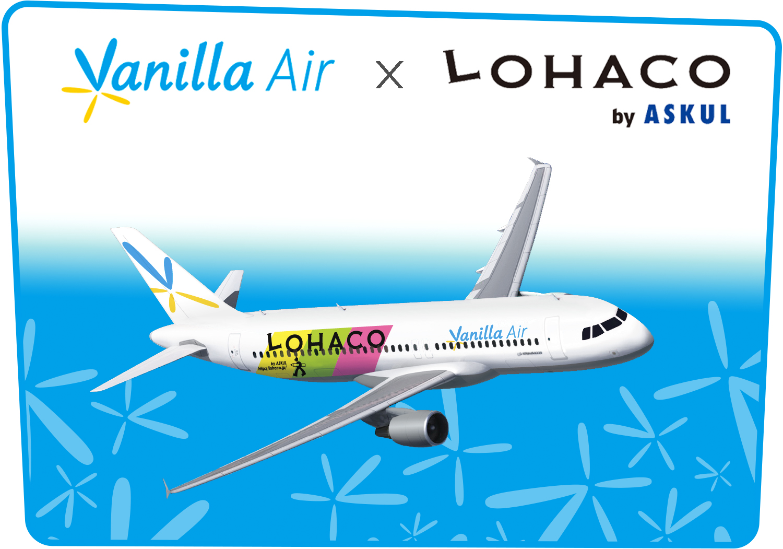 バニラエア、「LOHACOジェット」を期間限定で運航、ネット通販とタイアップキャンペーンで