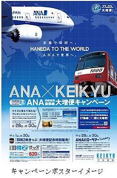 ANAと京急、羽田国際線大増便キャンペーン実施