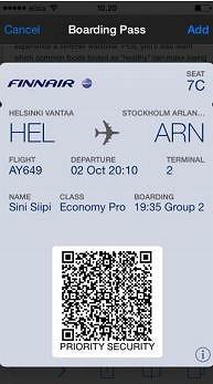 フィンエアー、日本の空港でもモバイル搭乗券サービスを開始