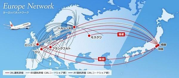 JAL、ブリティッシュ・エアウェイズ、フィンエアーの共同事業を4月1日に開始