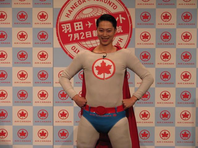 エア・カナダ、はんにゃ金田さんをPR大使「エア・カナダマン」に任命