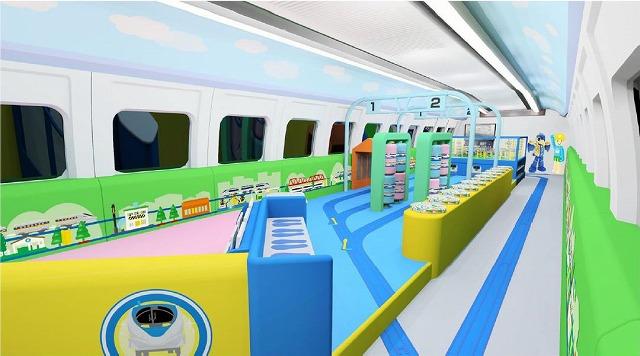 山陽新幹線で「プラレールカー」運行、子ども向けに3社がコラボ