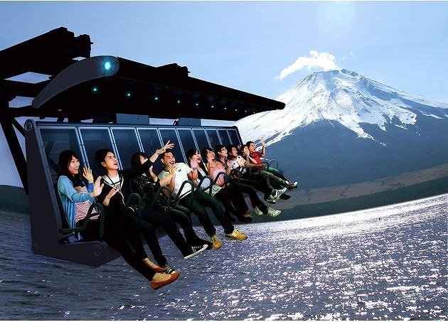 富士急ハイランド、富士山のシュミレーションライド開業、見えない日も富士山を間近に