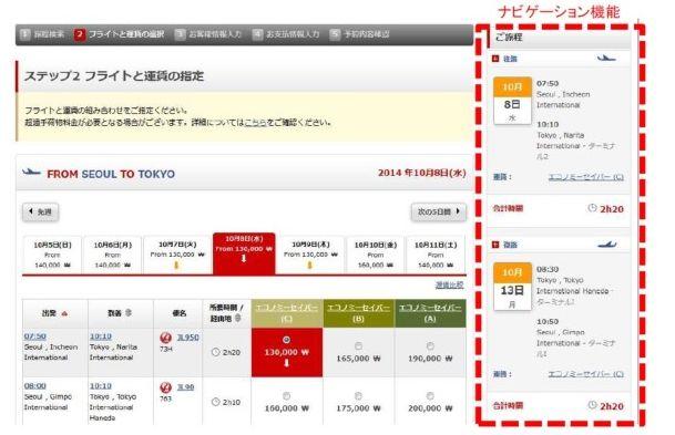 JAL、韓国地区ホームページを多言語化、日本語と英語の予約サービス開始