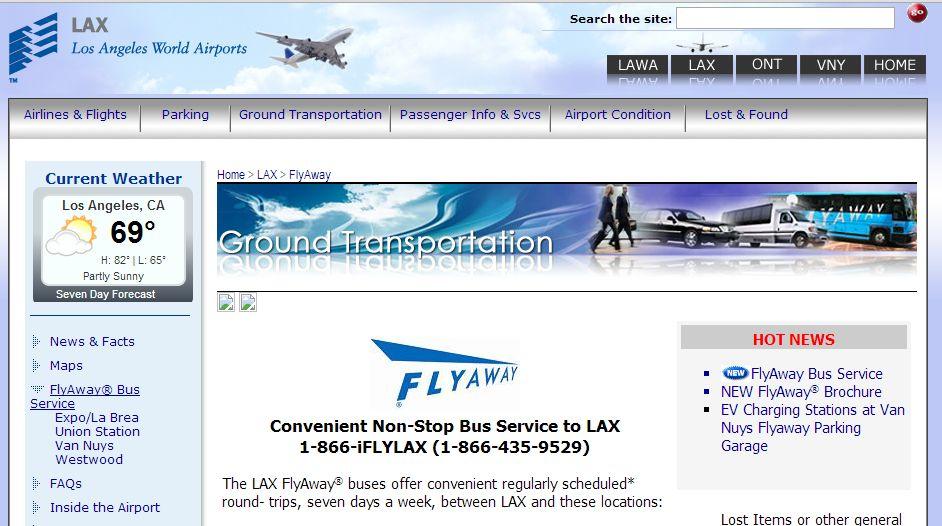 米ロサンゼルス、空港からサンタモニカ、ハリウッドへ低料金バスが運行