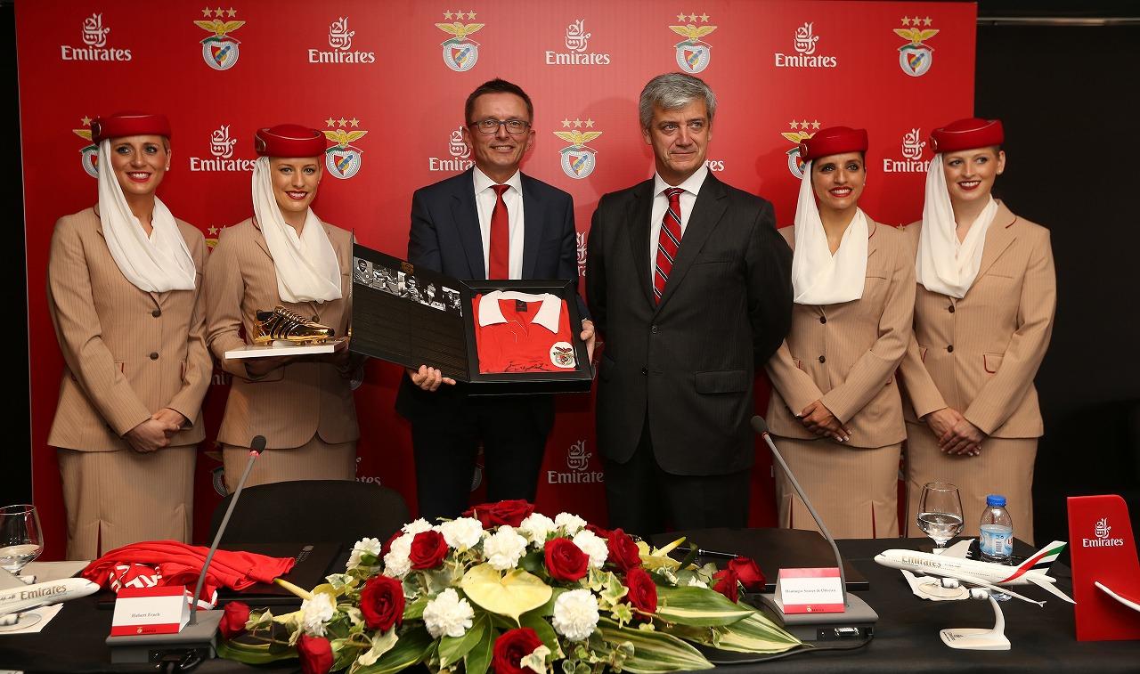 エミレーツ航空、ポルトガルのサッカークラブ「ベンフィカ」のスポンサーに