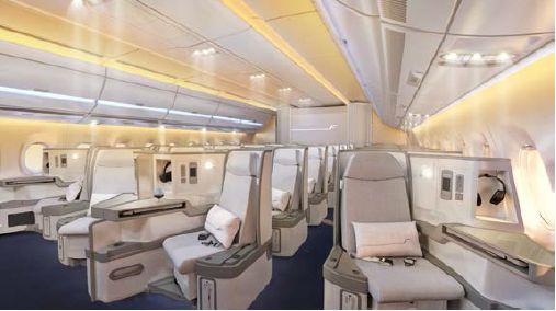 フィンランド航空、2015年投入のエアバス350 XWB機内デザインを発表、機内Wi-Fiを装備で
