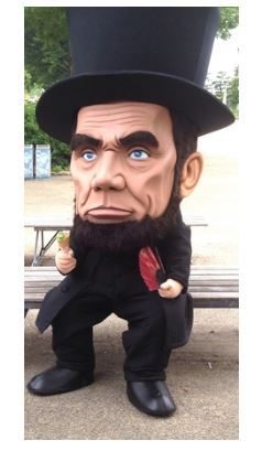 第16代アメリカ大統領リンカーン似のゆるキャラ、「ビッグリンカーン」がイリノイ州親善大使に任命