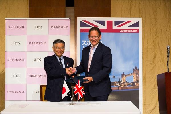 日本政府観光局、英国政府観光庁と観光分野の相互協力で覚書締結、東京オリンピック見据え