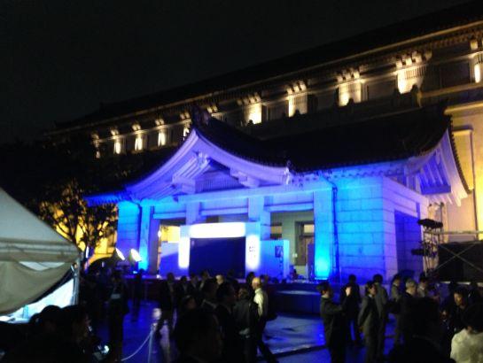 ライトアップされた東京国立博物館