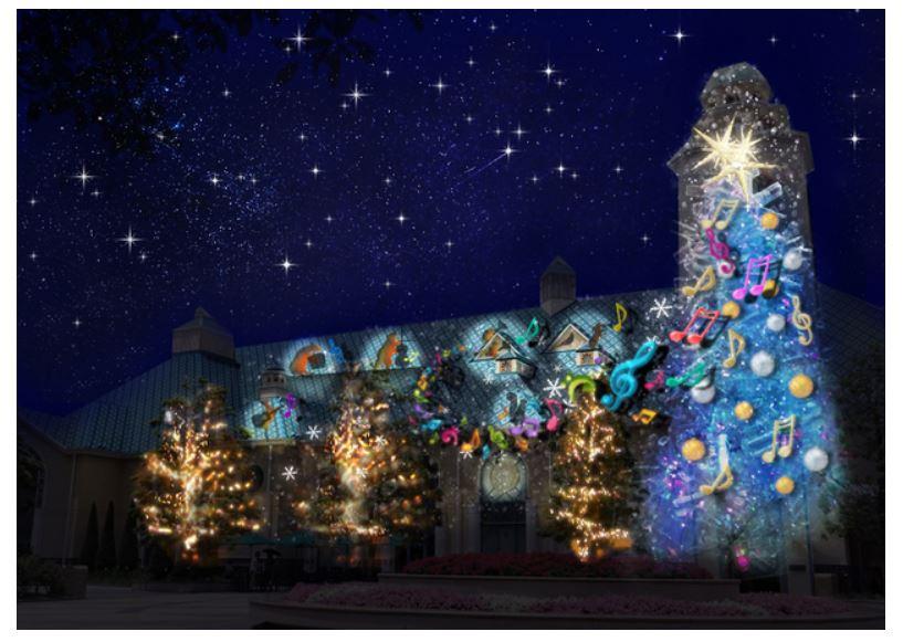 東京ディズニー「イクスピアリ」、ゲスト参加型のクリスマスイベント発表、プロジェクション・マッピングショーも